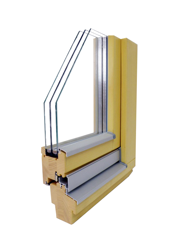 wooden window Glin GLT 68 EV