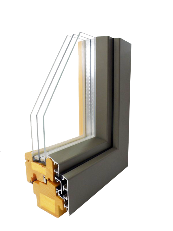 wood alu windows Glin Pasiv 92 Alu Plus