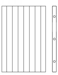 Polkna z vertikalnimi lamelami